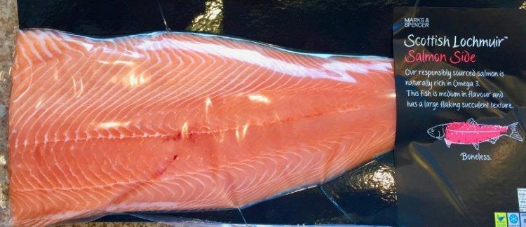 salmon - M&S