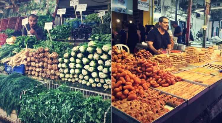 stalls at the Carmel Market, Tel Aviv