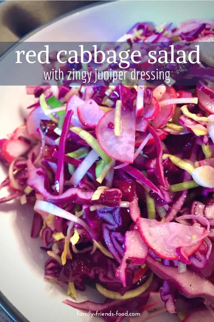 Crunchy red cabbage and delicious wintry spices combine in this gorgeously vibrant raw vegan salad that will brighten any plate.