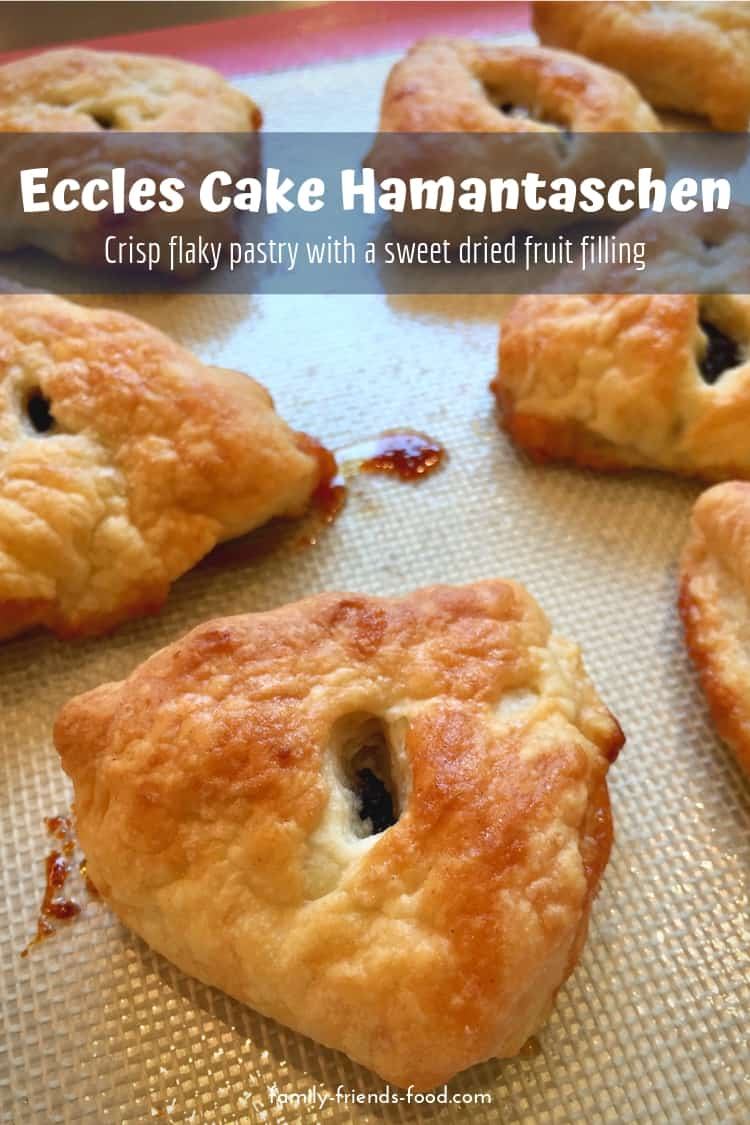 A sweet, buttery, curranty filling encased in crisp, golden flaky pastry - classic British bake meets tasty Purim treat! Behold - Eccles cake hamantaschen!
