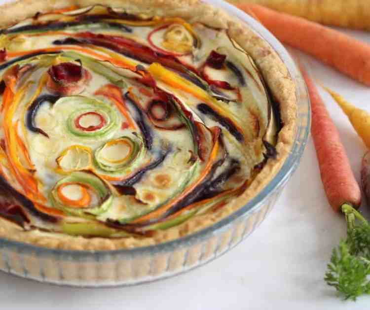 Savoury carrot tart from Renana's Kitchen.