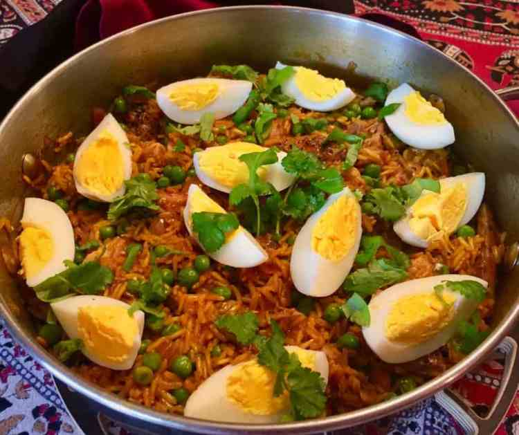Easy to make, this smoked mackerel kedgeree is a delicious, lightly spiced family dinner that's a balanced meal of rice, veggies & protein all in one dish.