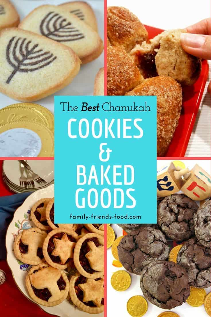 Chanukah cookies & baked goods. Everything you need to know about Chanukah food - what, why, and how! - plus over 50 delicious recipes for fabulous festive treats.