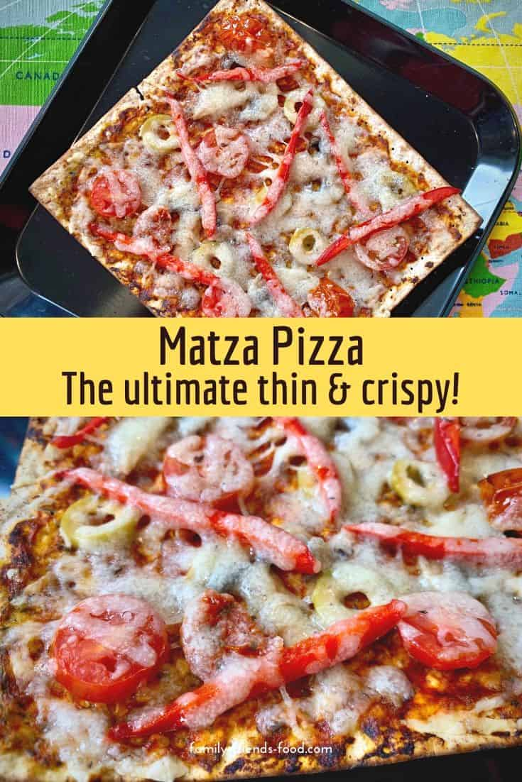 Need a Pesach meal that's easy, quick and also delicious? Matza pizza is the answer! Load up the toppings and cheese and enjoy a family-friendly KFP slice.