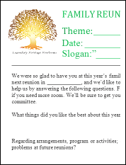 free family reunion planner templates image collections template family reunion letters template