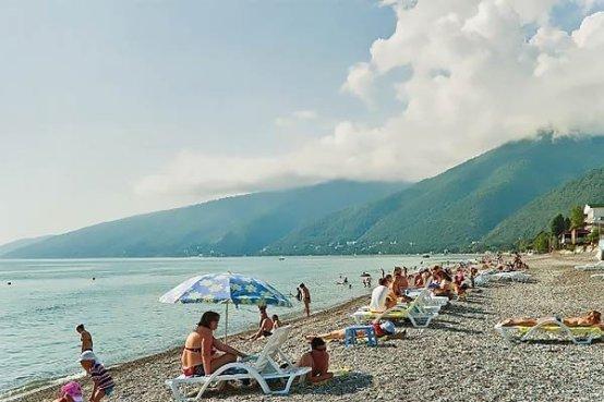 Пляж отеля Алекс Бич, Гагра