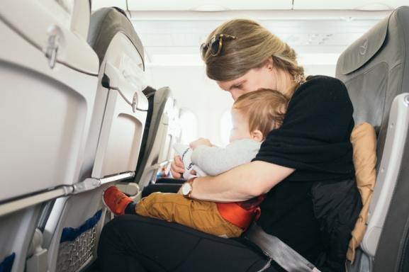 Самолёт, отдых с ребёнком