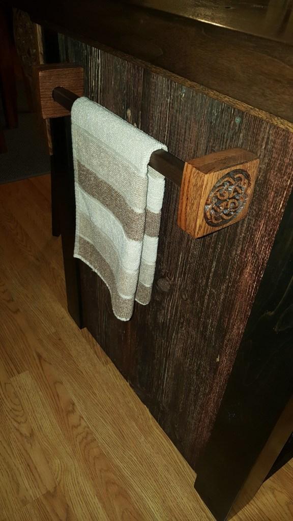 custom hardwood towel bar