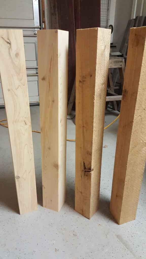 4x4 posts for kitchen island