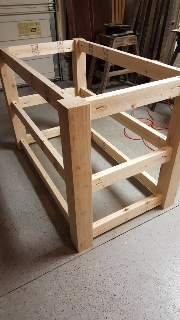kitchen island frame