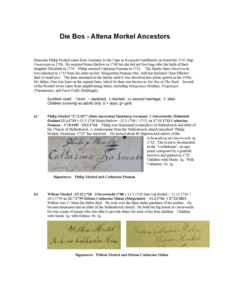 thumbnail of Die Bos Altena Morkel Ancestors Thumbnails