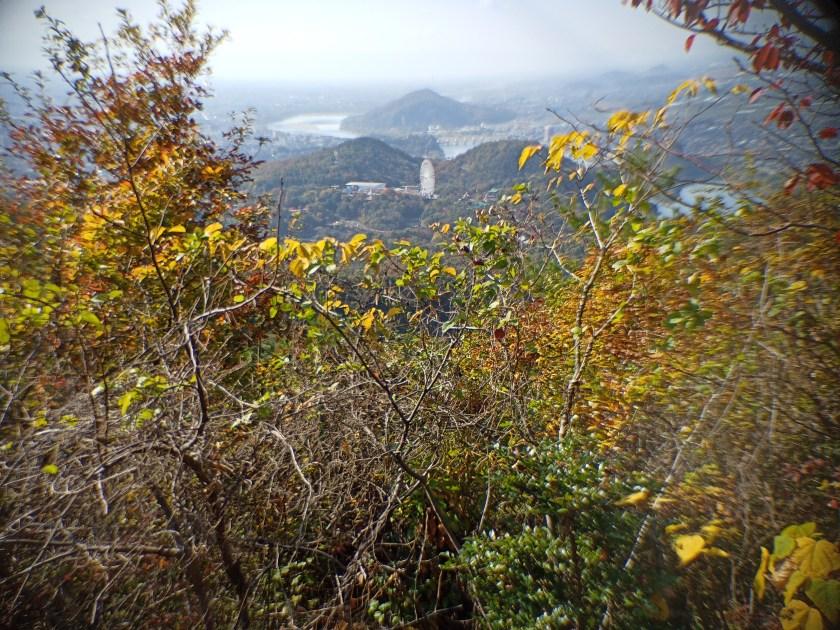 継鹿尾山頂上からの展望 犬山城