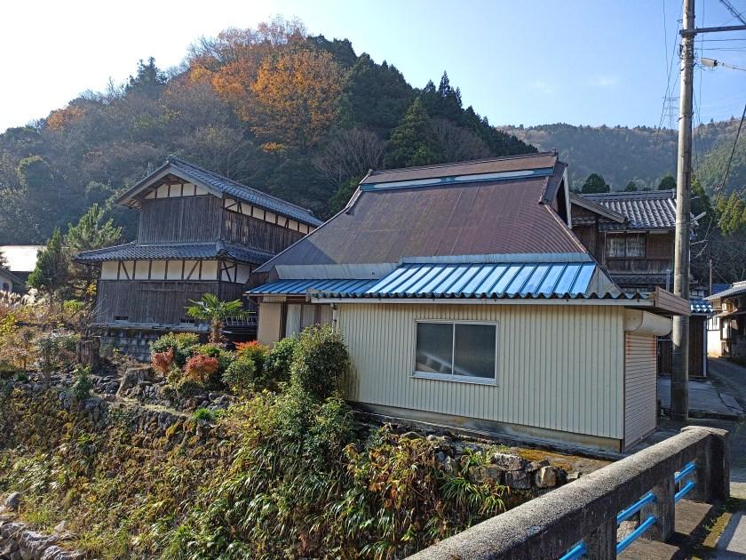 坂口集落 松尾寺遺跡参道の入り口