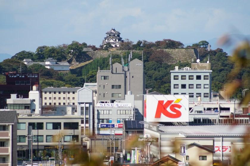 天寧寺から見た彦根城