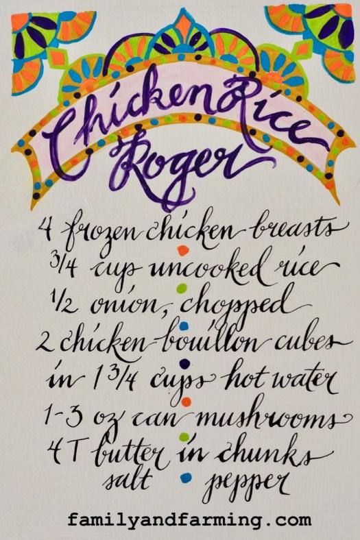Chicken Rice Roger Recipe