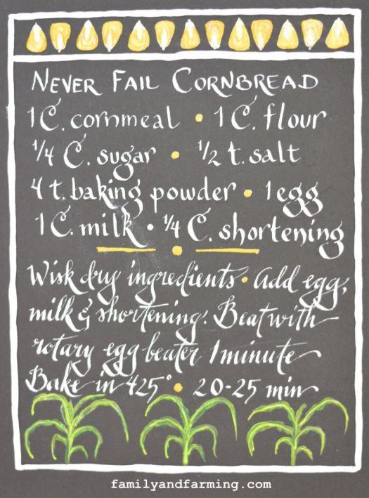 Illustrated Photo of Never Fail Cornbread