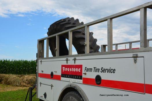 Photo of a farm tire repair truck