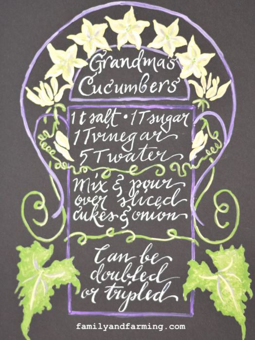 Illustrated cucumber recipe