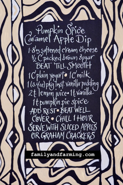 Pumpkin Spice Caramel Apple Dip