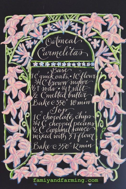 Oatmeal Carmelita Recipe