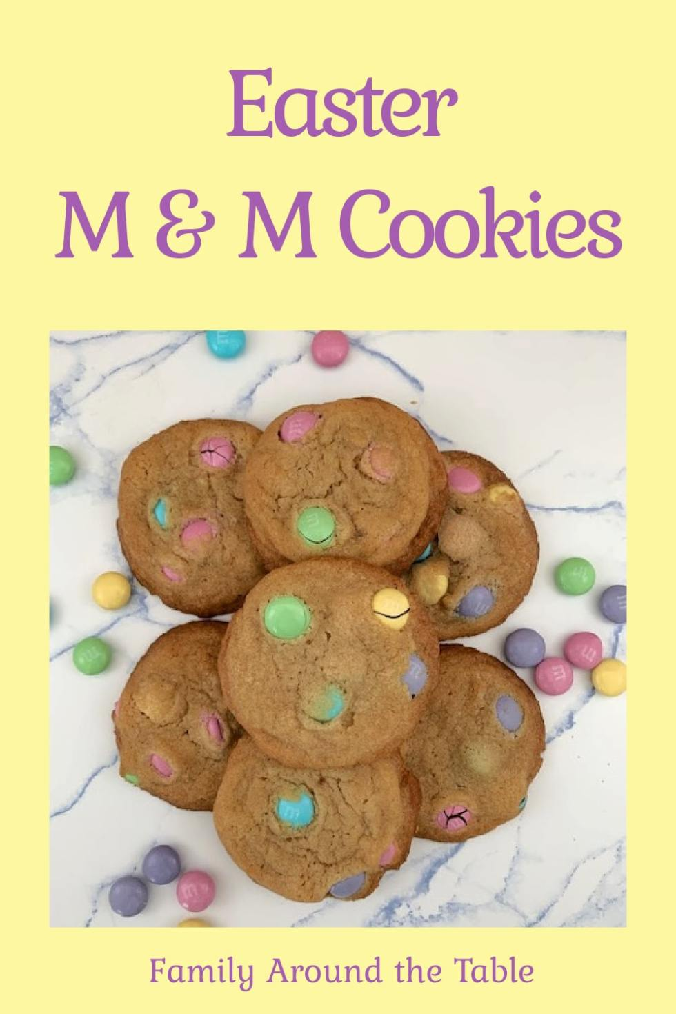 Easter M&M Cookies Pinterest Image