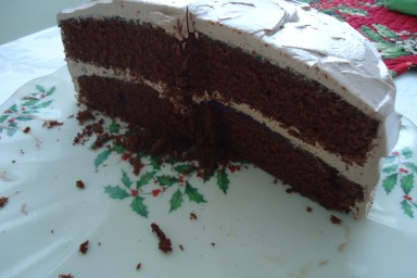 Devil's Food Cake with Chocolate Buttercream