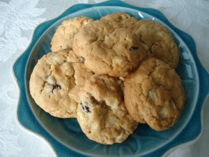Oatmeal, Cranberry and White Chocolate Chip Cookies