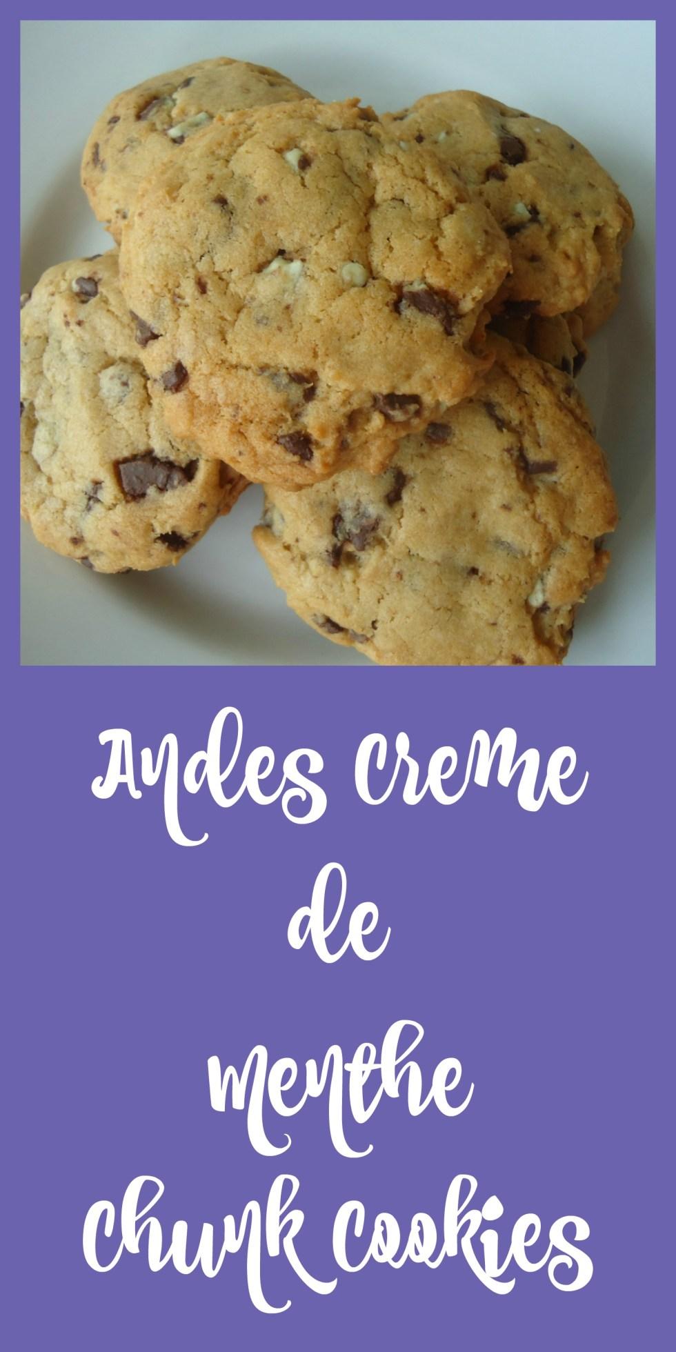 Andes Creme de Menthe Chunk Cookies