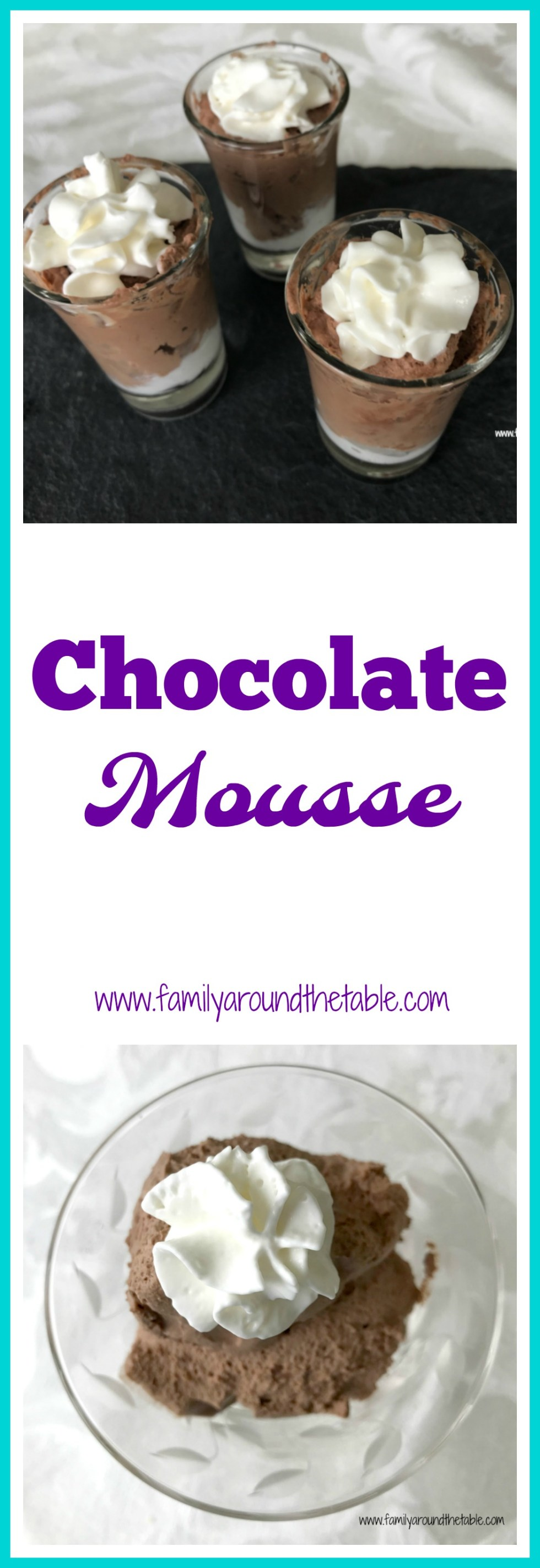 Chocolate mousse is perfect for entertaining. Serve in shot glasses for a dessert buffet