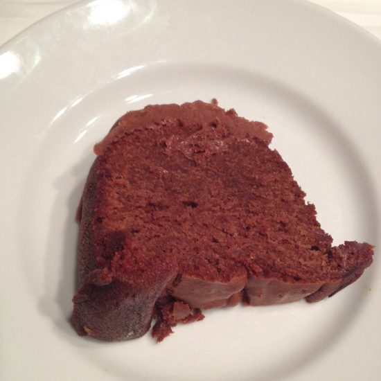 Slice of Hershey Bar Cake