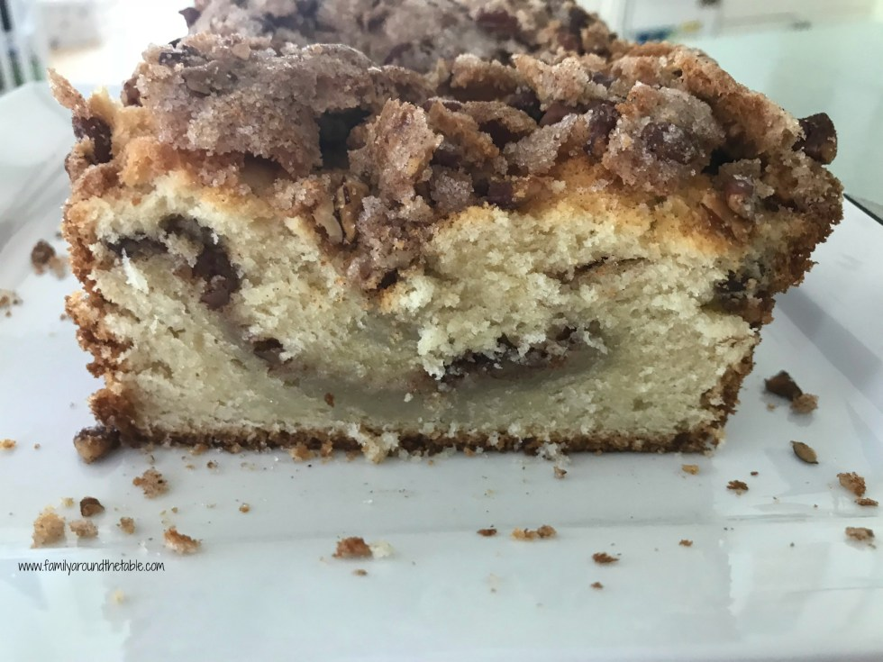 Make cinnamon pecan swirl coffee cake for brunch or just because.