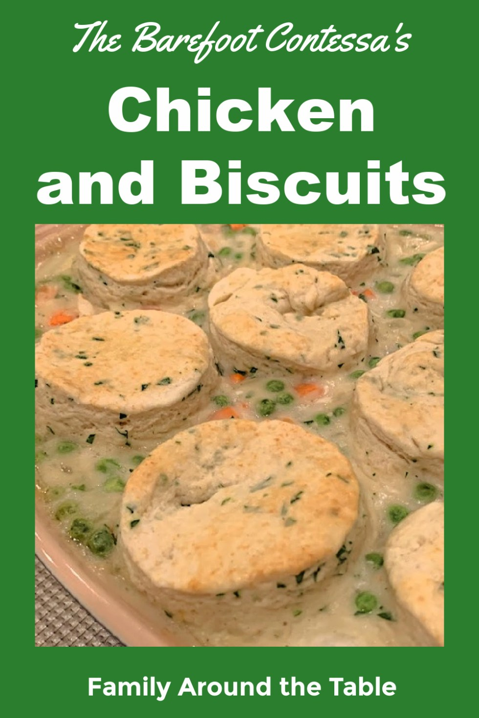 Chicken and Biscuits Pinterest Image