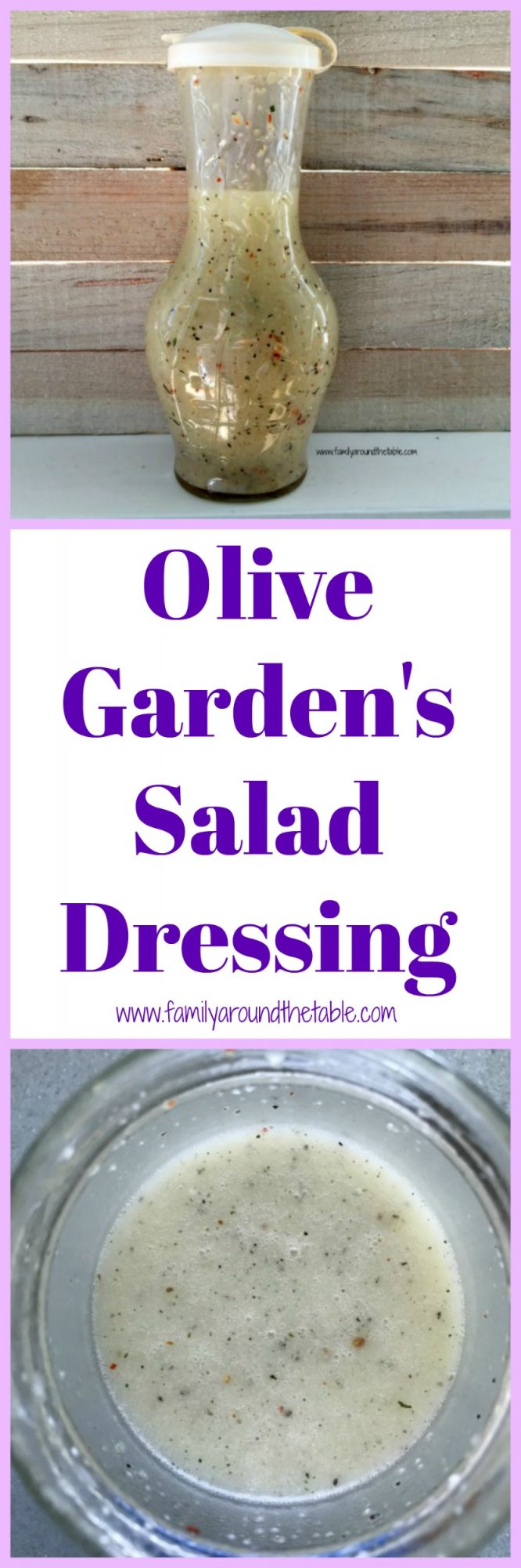 Homemade salad dressing like the Olive Garden Salad Dressing, is so easy to make and more delicious than store bought.
