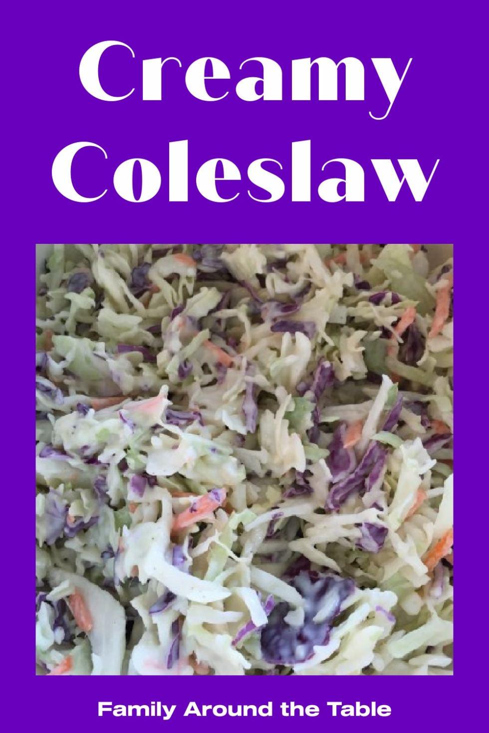 Creamy Coleslaw Pinterest Image