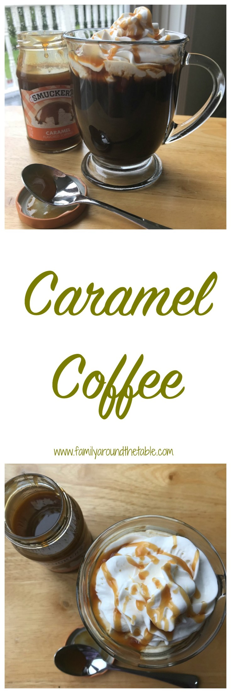Making caramel coffee couldn't be easier.
