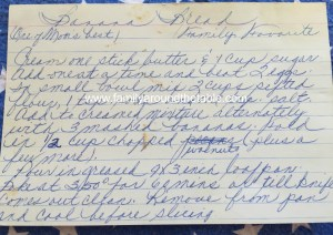 Mom's Handwritten Recipe