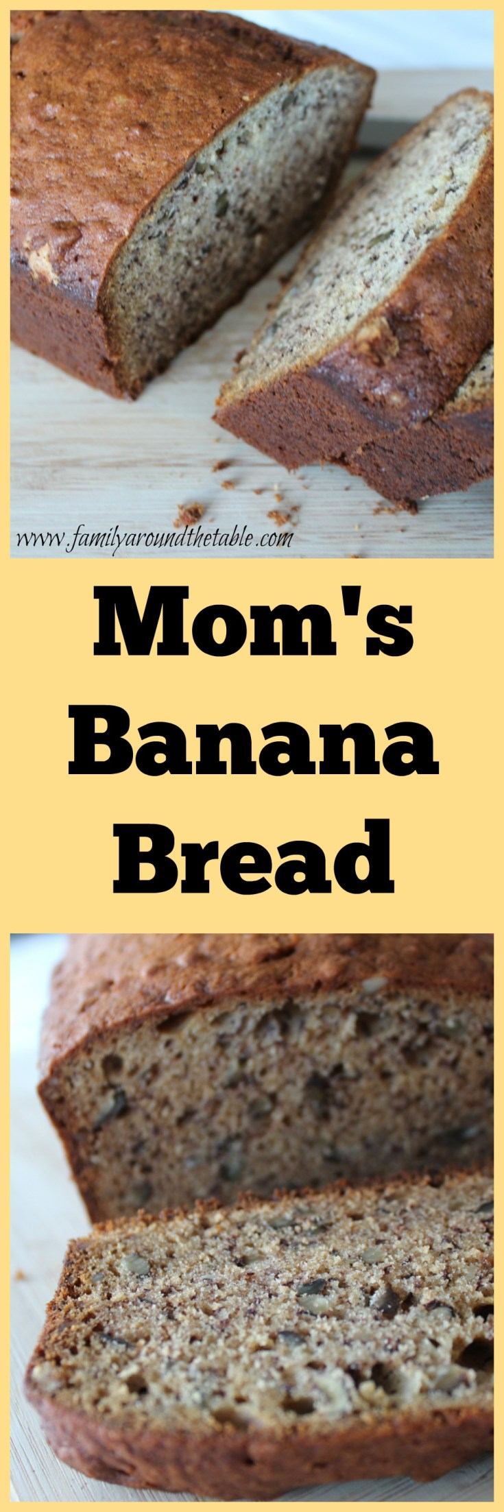 Mom's banana bread recipe has been in the family for more than 40 years. It's become a family favorite with my kids too.