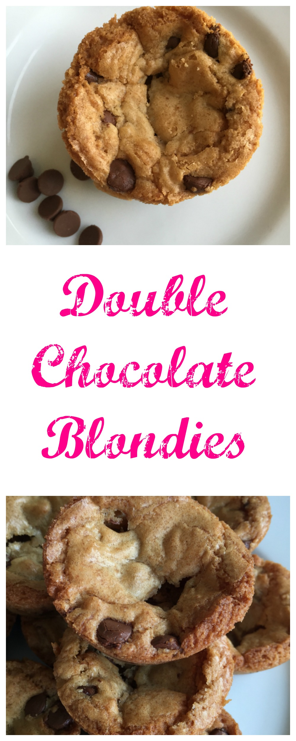 Double chocolate blondes are a fun treat. Great to use as a base for a sundae too!