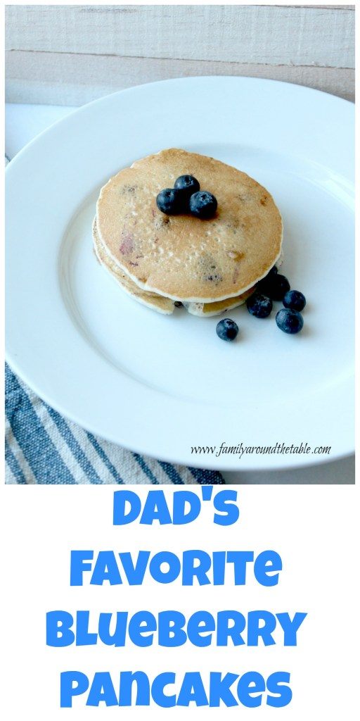 These blueberry pancakes are always a hit in my house!