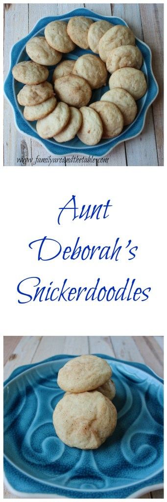 Aunt Deborah's snickerdoodles are made from scratch and are a favorite treat.