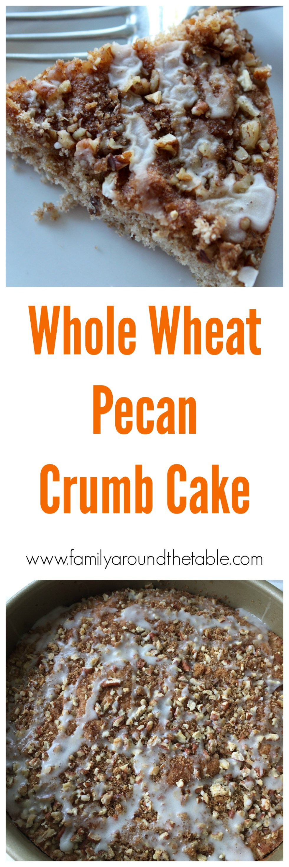 Whole Wheat Pecan Crumb Cake is a tasty start to the day.