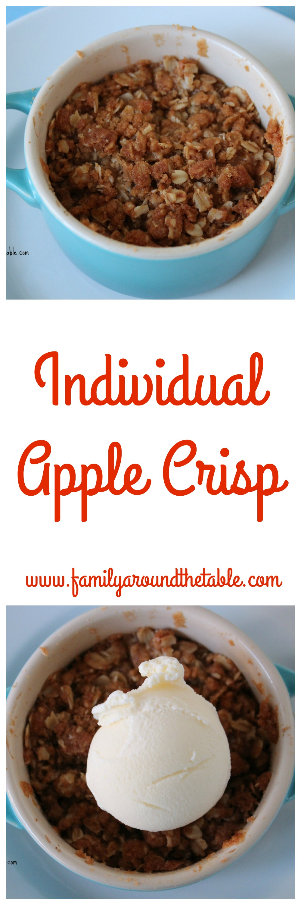 Individual Apple Crisp allows you to make as many as you need.
