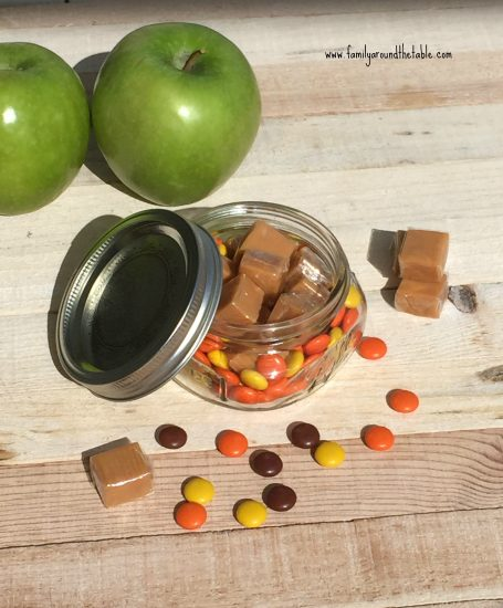 Caramel Apple in a Jar is a fun favor or teacher gift.