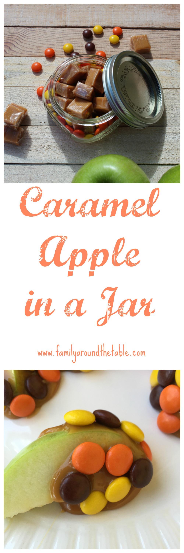 Caramel Apple in a Jar is a fun favor or teacher gift.