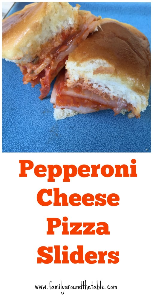 Pepperoni cheese pizza sliders are perfect for game day or hungry teenagers!