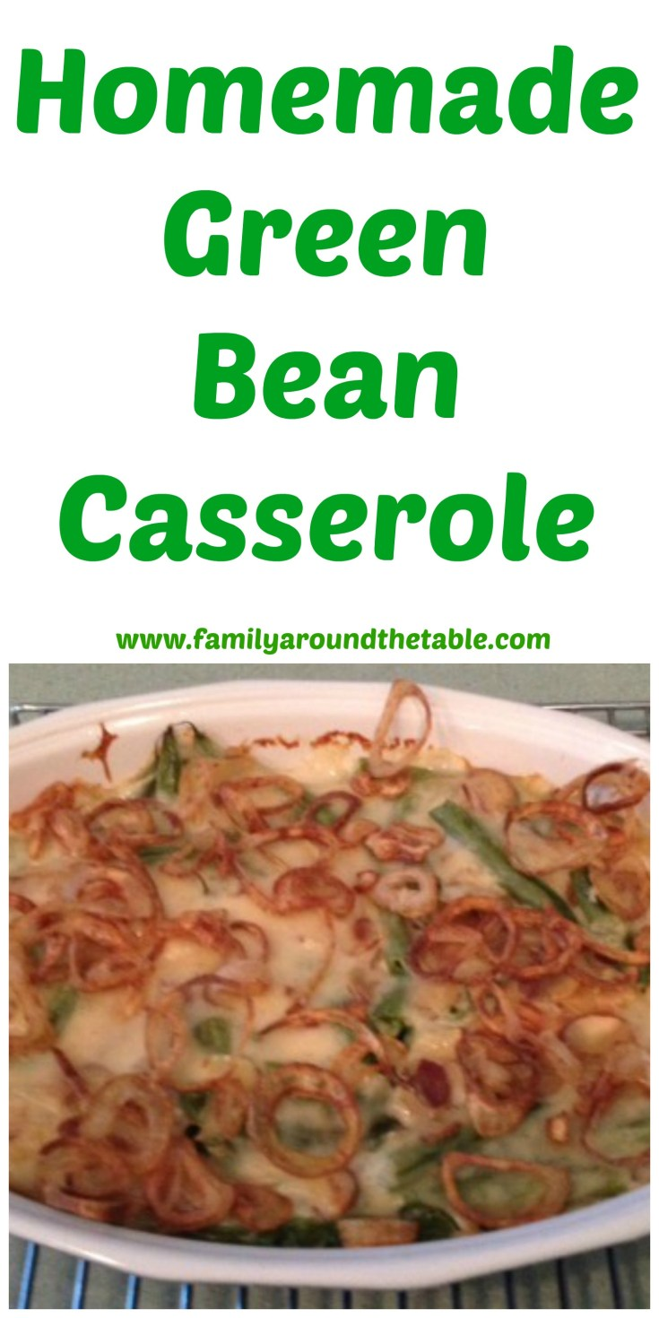 Homemade Green Bean Casserole is sure to become a favorite holiday dish.