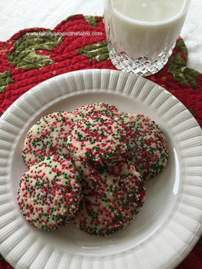 Christmas Sprinkle Cookies are a festive treat for a cookie tray.
