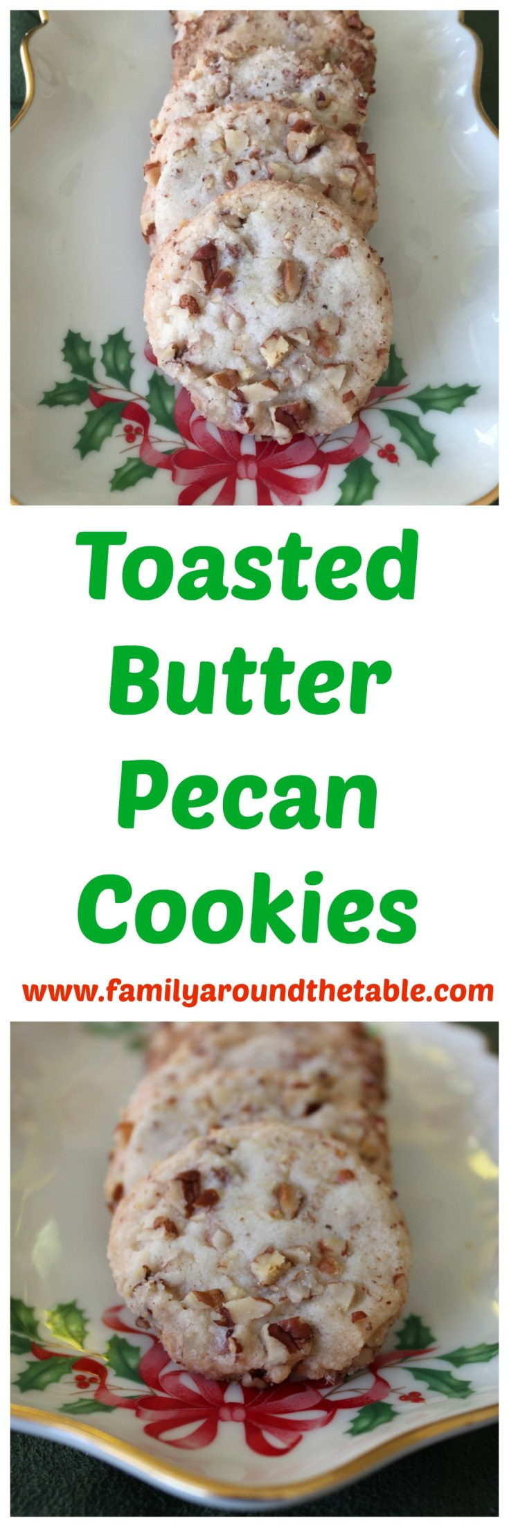 Toasted butter pecan cookies are a delicious addition to any cookie tray.