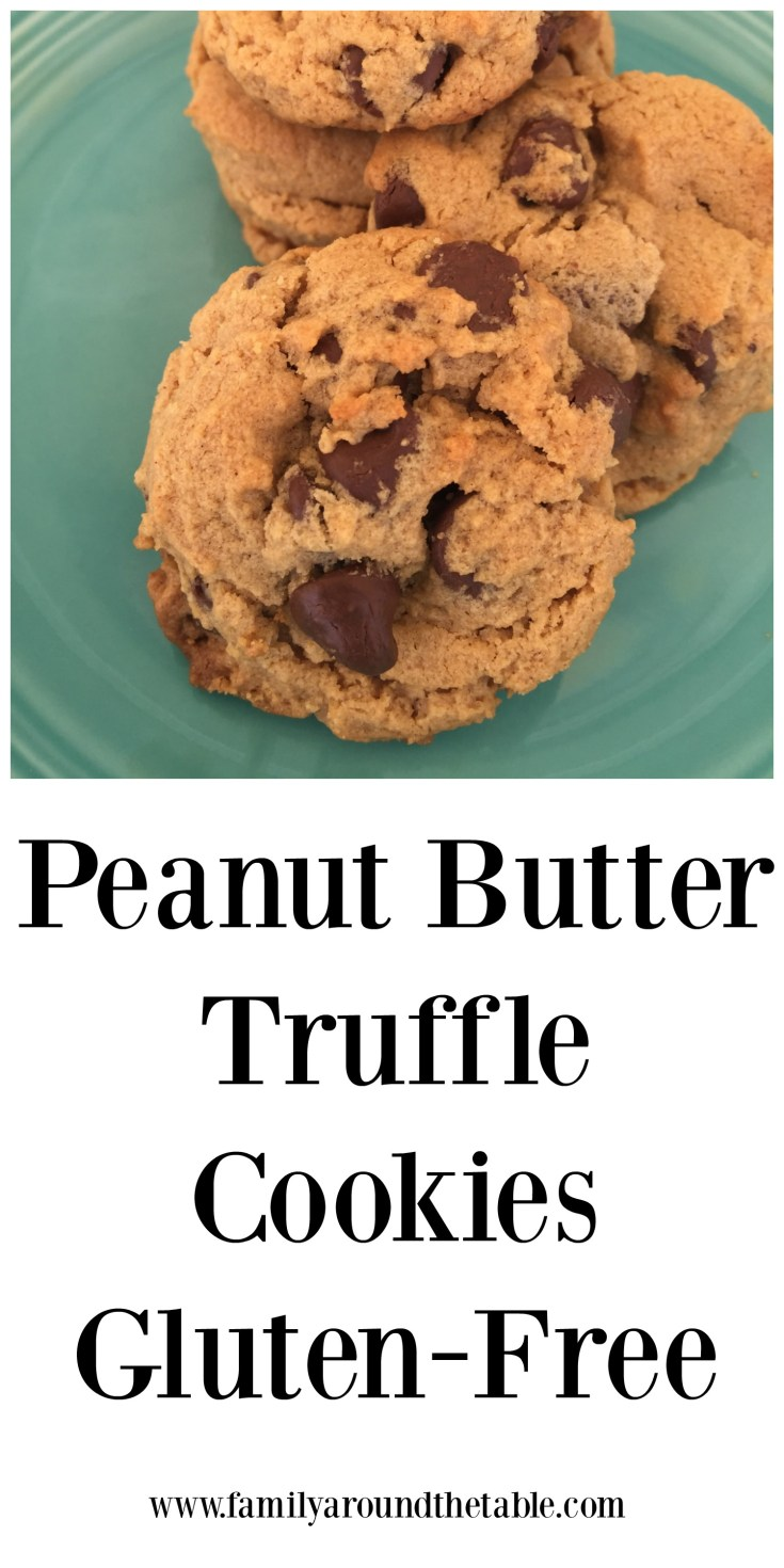 Peanut butter truffle cookies are gluten free yet rich and delicious.