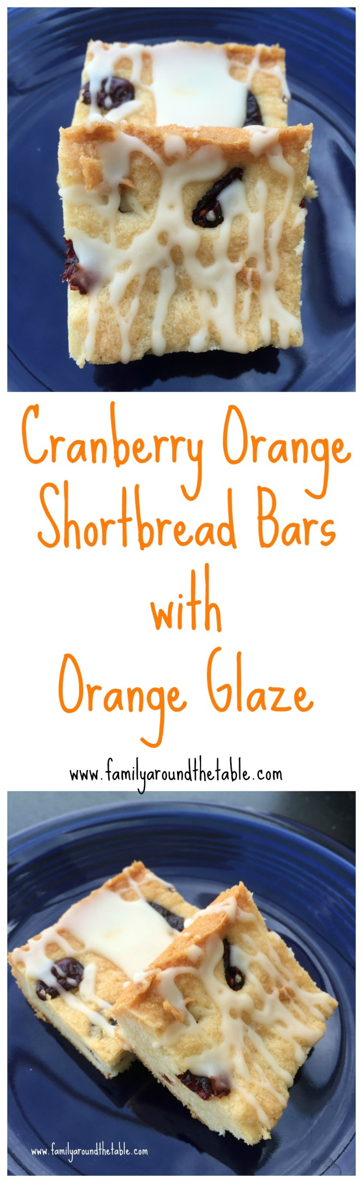 Cranberry Orange Shortbread Bars with Orange Glaze are a delicious seasonal treat